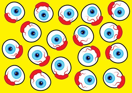visitor: eyeball pattern design vector illustration Illustration