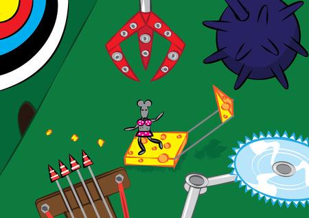 mouse trap: mouse trap concept vector illustration