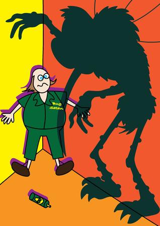 mozzie: monster giant mosquito spreading zika virus illustration