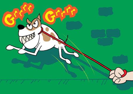 beware: beware of the dog illustration