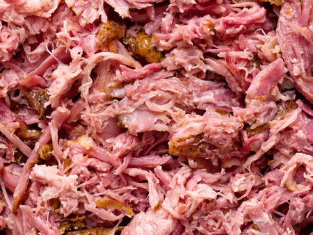 close up of american pull pork food background