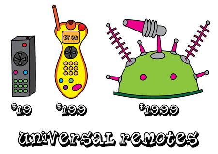 product range: funny universal remote product range