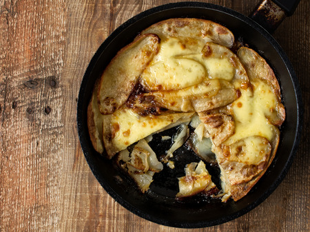 comfort food: close up of traditional english pub grub comfort food pan haggerty