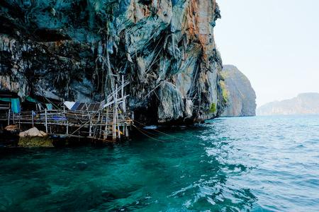 Viking Cave, part of Phi Phi islands in Andaman Sea, Thailand Standard-Bild