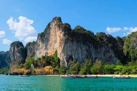 ao: Railay beach in Krabi Thailand Stock Photo