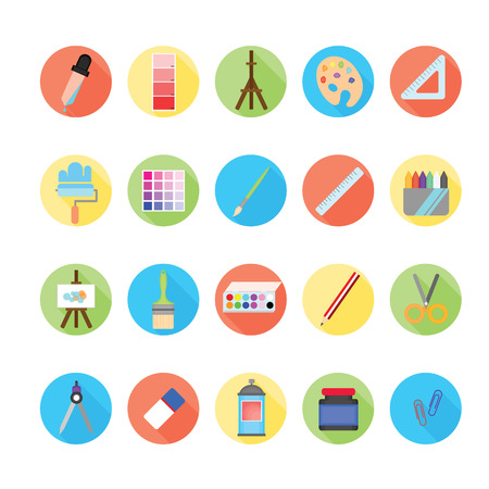 digitizer: Art icons set.