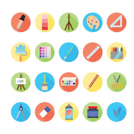 sketchpad: Art icons set.