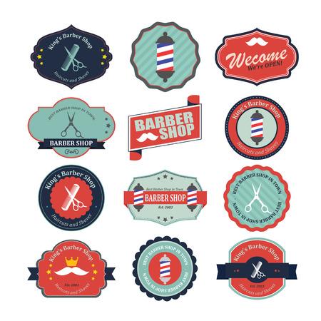 Set di epoca grafiche barbiere e icone. Archivio Fotografico - 33068504