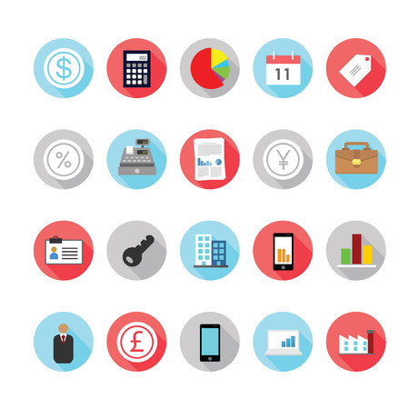 Business and management icons set. Vector