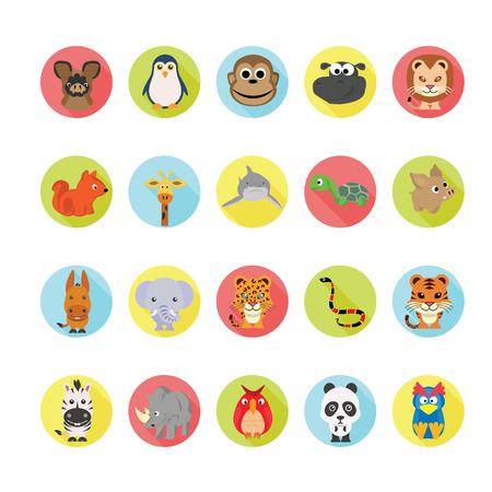 oso perezoso: Animales iconos conjunto.