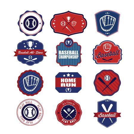 Baseball badges set.  Vector