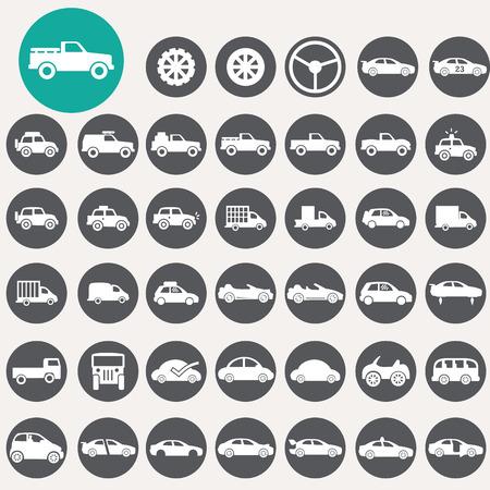 Car icons set.