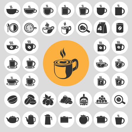 Coffee cup icons set. Illustration eps10 Vector