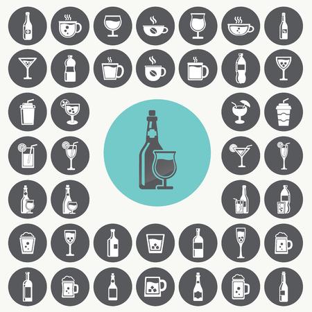 margerita: Drink icons set. Illustration