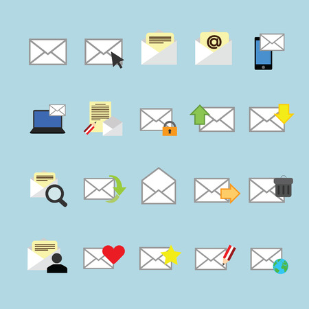 Email icons set.