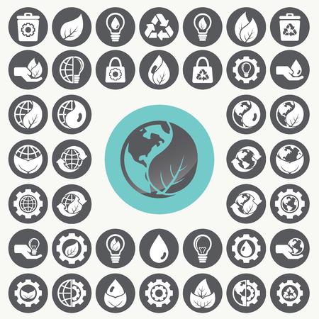idea generation: Environment icons set.
