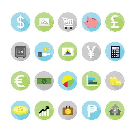 Finance icons set.
