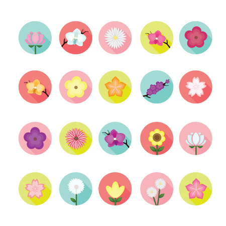 Flower icons set.