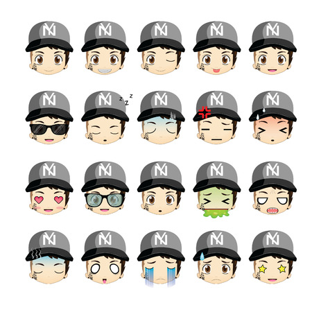 Gangster icons set.