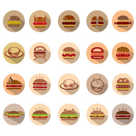 Hamburger icons set, Illustration eps10