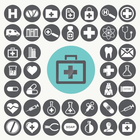 Medici e sanitari icone set. Archivio Fotografico - 33069281