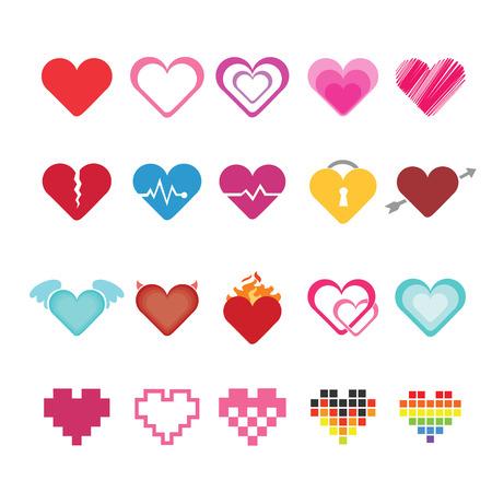Heart icons set. Иллюстрация