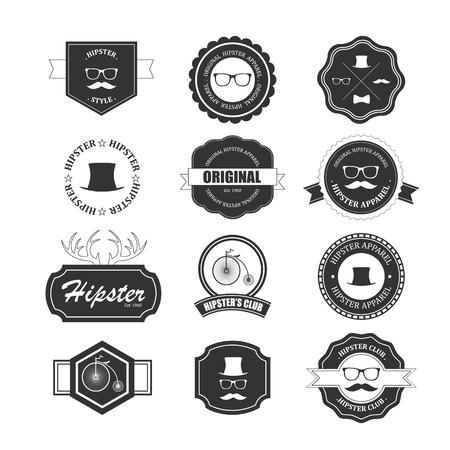 Hipster style badges set.  Иллюстрация