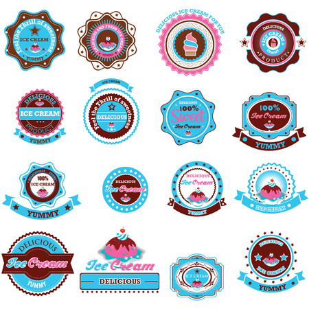 Collection of Ice Cream Design Elements. Vector