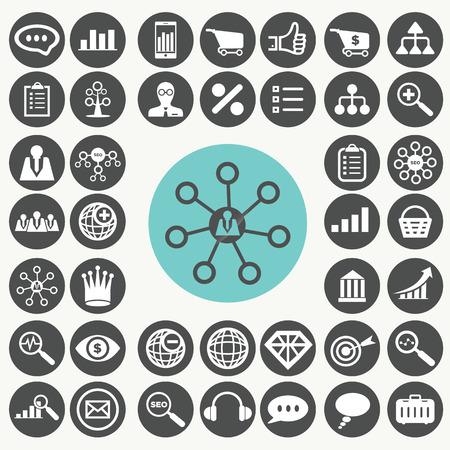 Internet marketing icons set.