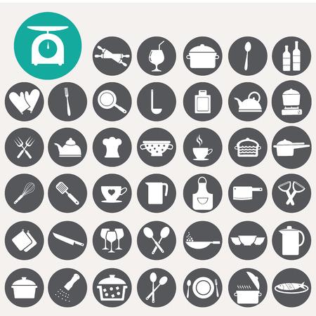 Cibo e cucina icone set. Archivio Fotografico - 33069295