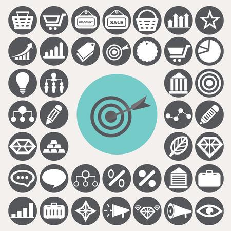 Marketing icons set.