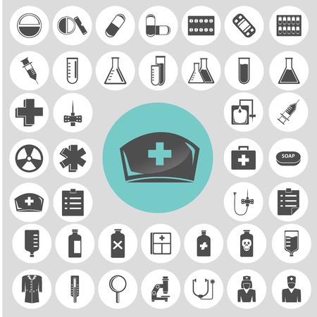 Medical icons set.  Vector