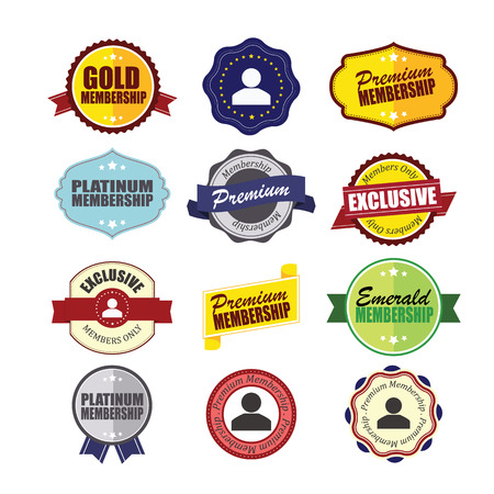 membership: Private Membership Badges.  Illustration
