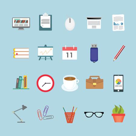 typing machine: Office icons set. Illustration
