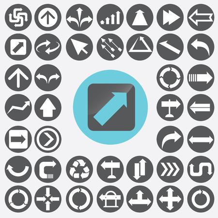 designator: Arrow icons set.  Illustration