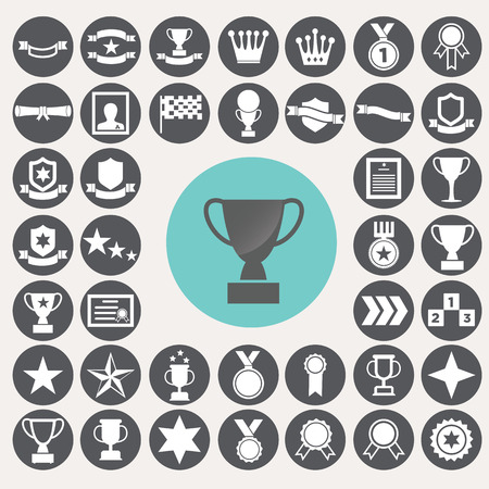 sporting event: Award icons set. Illustration