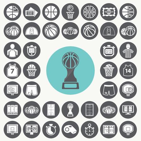 Basketball icons set.