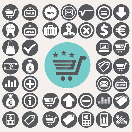 Shopping and eCommerce icons set.