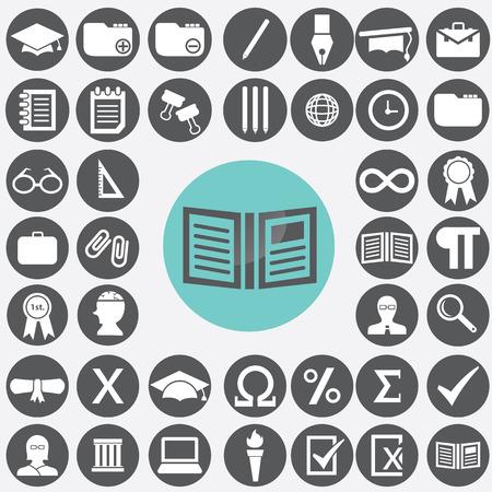 Education icons set.