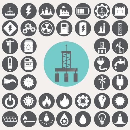Energia e l'industria icone set. Archivio Fotografico - 33069524