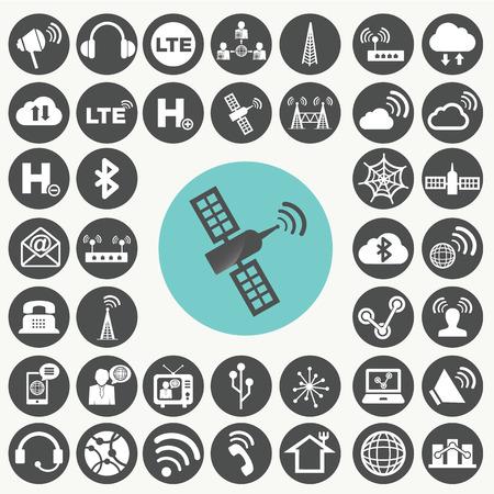 no symbol: Network icons set.