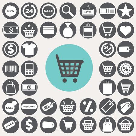 Shopping icons set. Иллюстрация