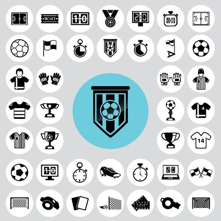 Soccer icons set. Фото со стока - 33069590