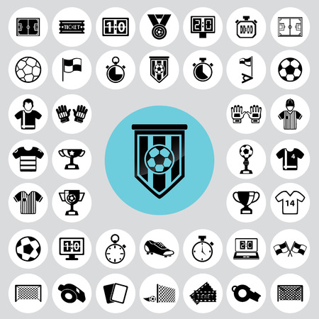 Soccer icons set. Ilustrace