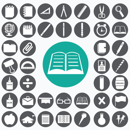 School icon set. Ilustrace