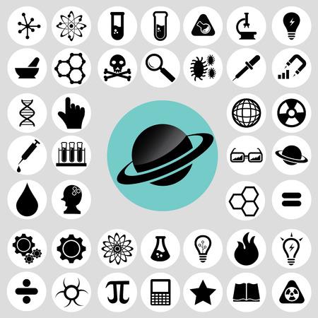 Trendy science icons set.