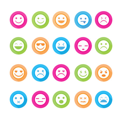 disappoint: Smiley faces icon set.