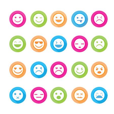 Smiley faces icon set.