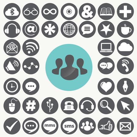 Social network icons set