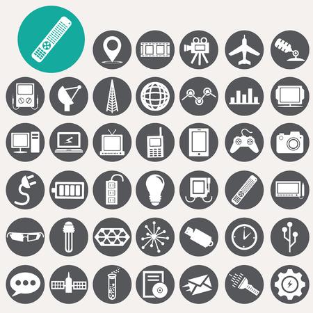 Technology icons set.  Illustration